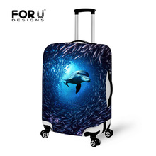 Stretch Dolphin Travel Luggage Suitcase Protective Cover to 18 20 22 24 26 28 30inch Cases With 6 Colors Elastic Luggage Cover