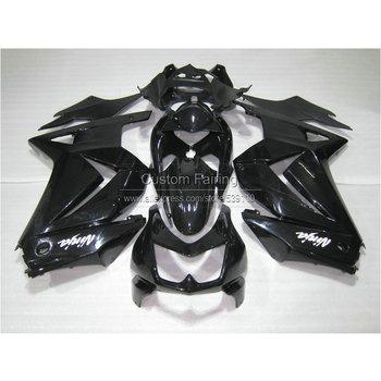 Injection mold plastic Fairing kit for Kawasaki ninja 250r 2008-2014 EX250 08 09 10 11 12 13 14 all glossy black fairings BL15