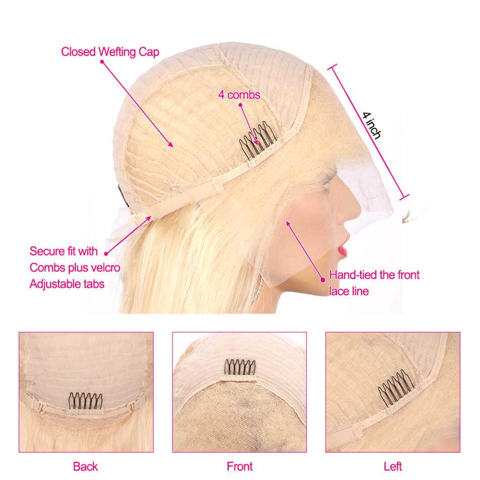 613 блондинка Синтетические волосы на кружеве парик перуанский 13x4 Синтетические волосы на кружеве Remy человеческие волосы парики для черный Для женщин 613 Синтетические волосы на кружеве парик с детскими волосами