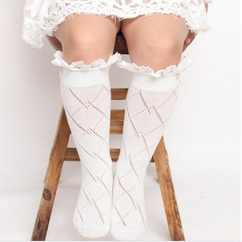 Кружевные детские гетры цвета слоновой кости, детские гетры, носки для девочек по колено, гетры для девочек, длинные носки для детей