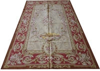 019 5x8 2 9x12 10x14 5.15x7.75 7 Vintage Brown Pale Red Beige Pink Roses Fine Home Decor Aubusson Carpet gc8aubyg13