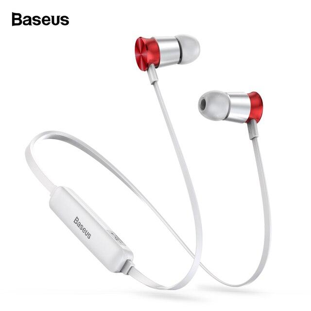 Baseus S07 шейным Беспроводной Bluetooth наушники Fone de ouvido Спортивная гарнитура стерео вакуумные наушники Динамик