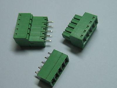 12 pcs Screw Terminal Block Connector 3.81mm 5 pinway Green Pluggable Type