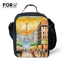 Forudesigns bolsa портативный обед сумки для женщин дети девочки весна путешествия пикник сумки 3d пейзаж печати пищевой мешки с застежкой-молнией