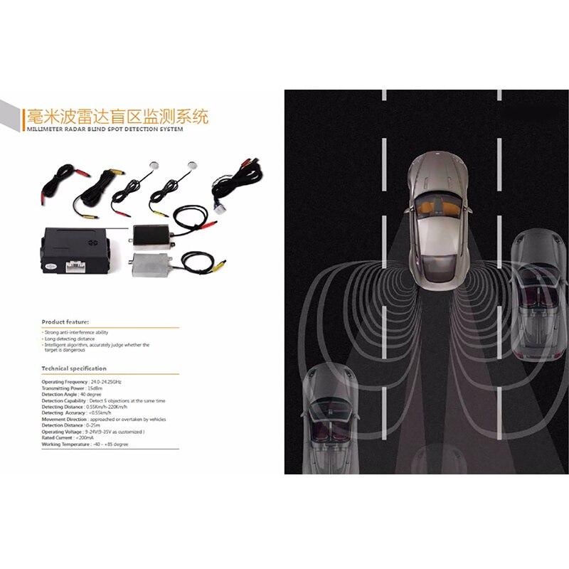 Миллиметровая волновая радар система обнаружения слепых пятен BSD BSA BSM микроволновая печь слепое пятно мониторинг помощник вождение автомо...