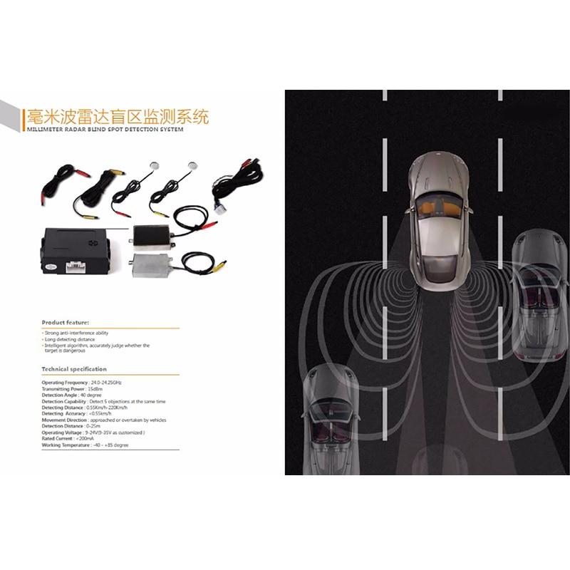 Onde millimetriche Radar A Microonde Blind Spot Detection System BSD BSA BSM Monitoraggio Punto Cieco Assistente di Guida di Veicoli di Sicurezza