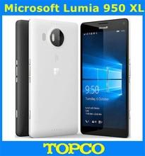 Microsoft Lumia 950 XL Original Unlocked Windows 10 Mobile Phone 4G LTE GSM 5.7'' 20MP Octa Core 3GB RAM 32GB ROM 3340mAh