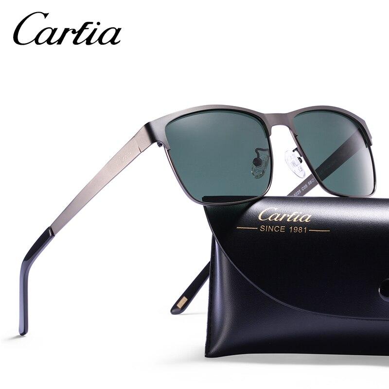Carfia männer Polarisierte Sonnenbrille Steampunk Vintage Quadrat ...