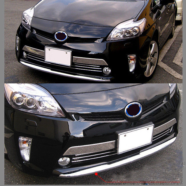 Pare-chocs avant chromé Protecteur De Lèvre de Voiture de Garniture De Style Accessoires De Couverture Pour Toyota Prius ZVW30 2012-2016