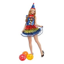 Ladies Circus Cutie Clown Costume Carnival Dress Outfits for Women Fancy Halloween Party Costumes Cosplay