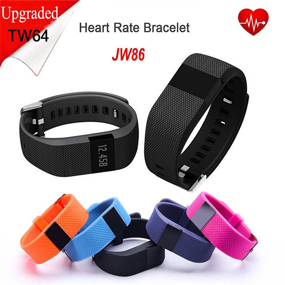 AlfarTec TW64S Smart Bracelet Heart Rate Monitor Message Reminder Smart Pedometer Waterproof Sport Fashion For IOS