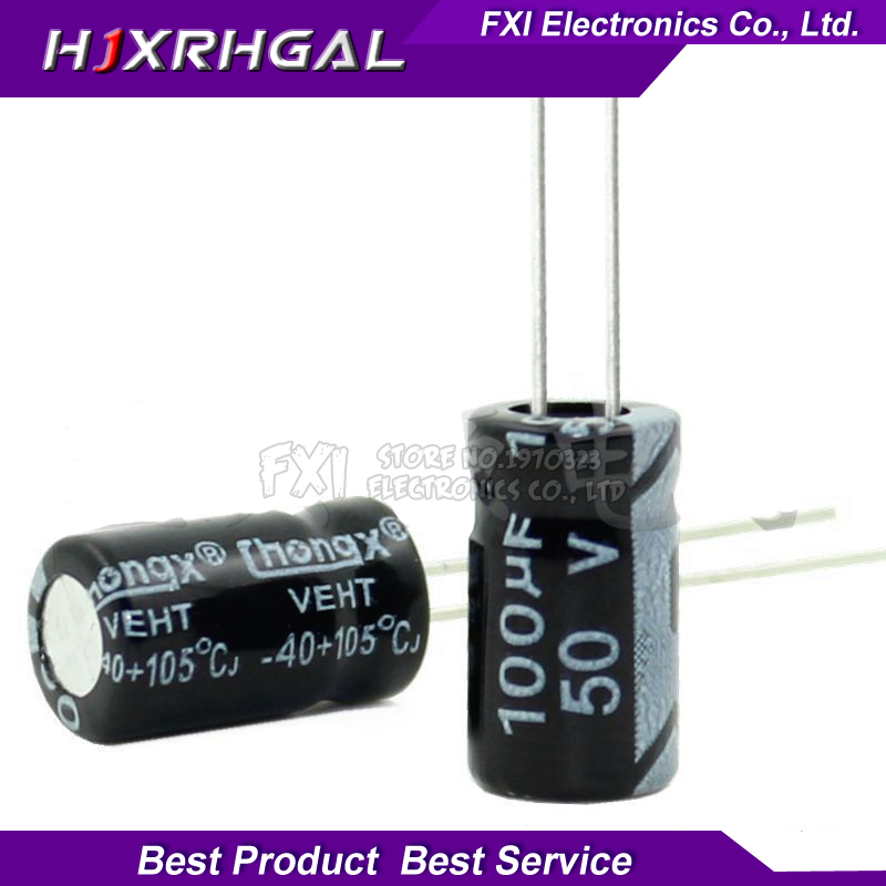 10PCS <font><b>50v100uf</b></font> 100uf50v 6*12 50v 100uf 6x12 Electrolyti Electrolytic capacitor image