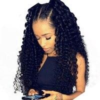 13x6 Синтетические волосы на кружеве парики для Для женщин вьющиеся натуральные волосы парики 250% плотность Бразильский Glueless Синтетические в