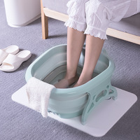 A,Collapsible Portable Basins 15L High Capacity Wash foot Basin Household with Roller massager