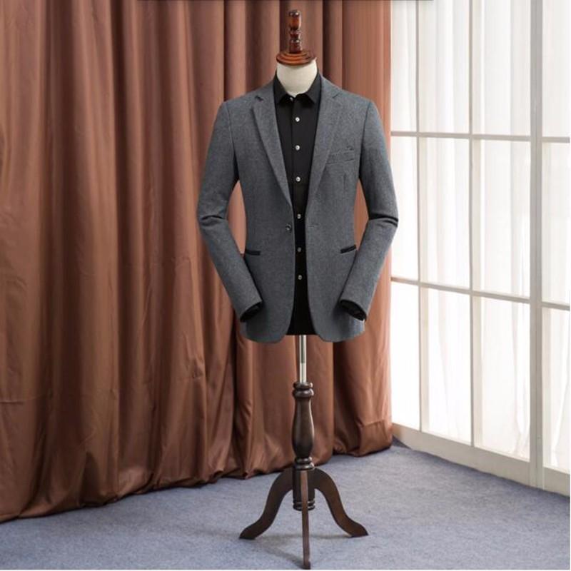 4.1Grey men suits jacket wool blended custom formal business suits jacket handsome high quality groom prom dress jacket