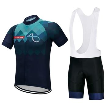 SUSHAN Pro Kurzarm Radfahren Set Sommer Mountainbike Kleidung Pro Fahrrad Jersey Sportbekleidung Anzug Maillot Ropa Ciclismo
