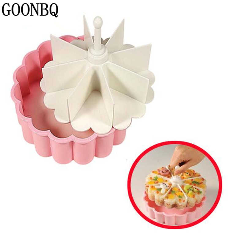 GOONBQ 1 pc 8 Holes Heart Shape Sushi Mold Plastic Rice Ball Making Tool Children Food Making Tool DIY Sushi Box