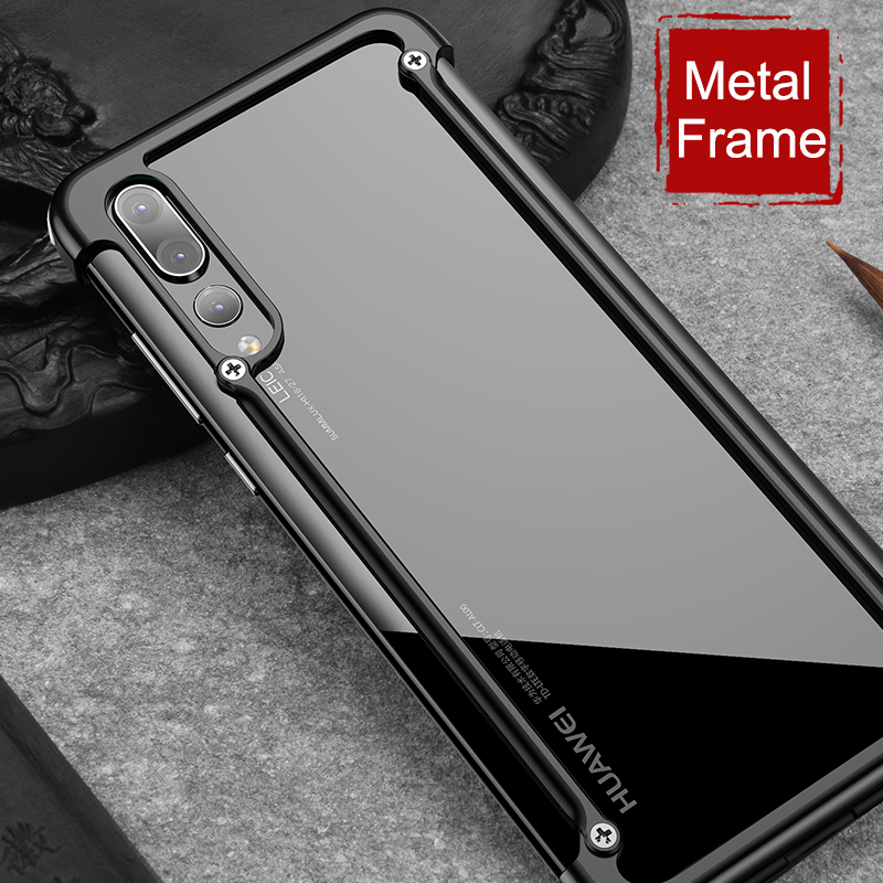 Best buy ) }}Luxury Airbag Metal Protection Case For Huawei P20 Case lite Personality Shell for Huawei P20