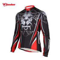 Tasdan Ciclismo Ropa Deportiva Camisetas de Encargo Del Tigre de Manga Larga Ciclismo Jersey Desgaste de La Bicicleta Ropa de Los Hombres En Línea