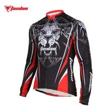Tasdan Sportswear Cycling Jerseys Custom Long Sleeve Tiger Cycling Jersey Wear Bicycle Clothing Men's Online
