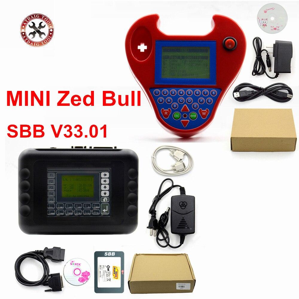 Livraison gratuite MINI Zed Bull programmeur de clé SBB V46.02 V33.02 V33.01 programmation nouvelle clé dans la puce de transpondeur de copie dimmobilisation