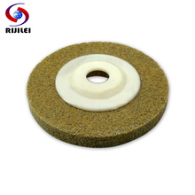 (4FP6-QJ) 6 pieces/lot 4 inch sponge polishing pads 100mm concrete velcro granite pad