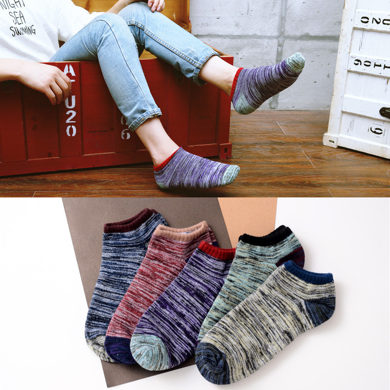 Fashion Casual Cotton Men Socks High Quality Mens Socks 5Colors Men Combed Calcetines Largos Hombre Breathable Socks