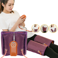 Electric Compression Leg Massager Body Foot Calf Waist Blood Circulation Vibration Heat Pneumatic Air Wraps Relax Massage