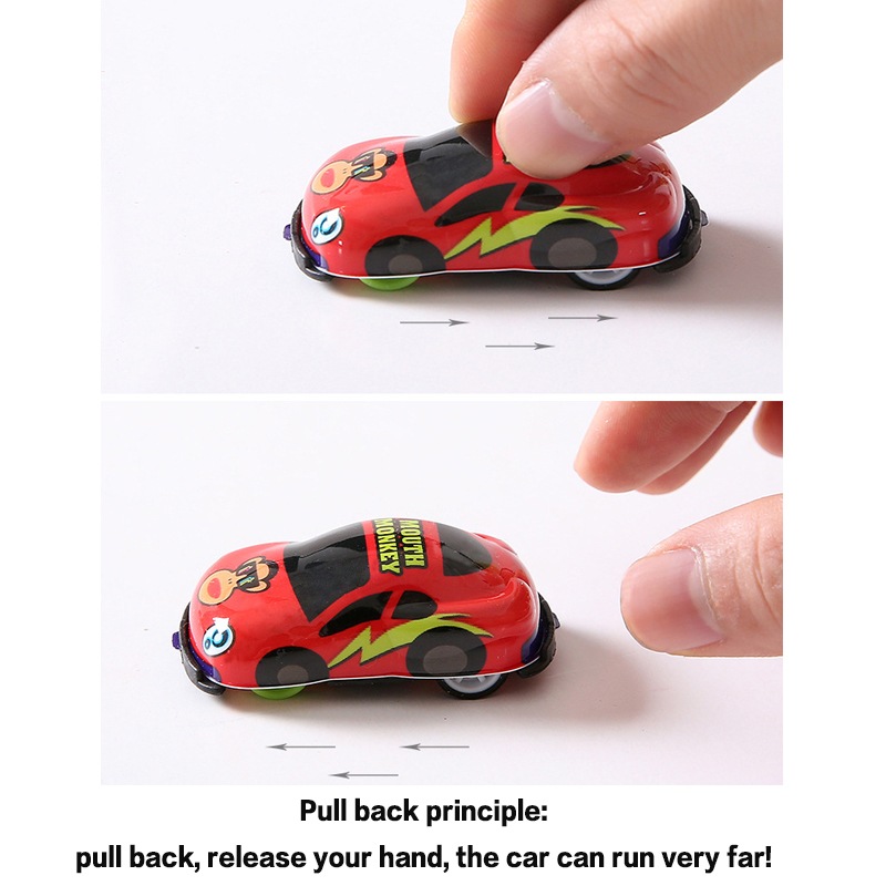 Fun Inertia Cartoon Toys Cute Plastic Pull Back Cars Toy Cars for Child Wheels Mini Car Model Funny Kids Toys for Boys Girls kid in Diecasts Toy Vehicles from Toys Hobbies