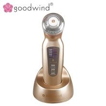 La goodwind CM-2A Cara Masajeador Cuerpo Eléctrico Belleza Salud Cuidado de La Piel Portátil Máquina Ultrasónica Limpia Elevación SPA Blanquear Anti Edad