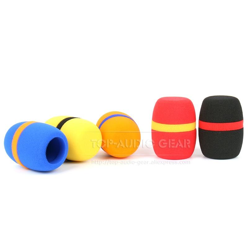 5X Small Foam Covers Windscreen Windshield for Lavalier Lapel Microphone  TG