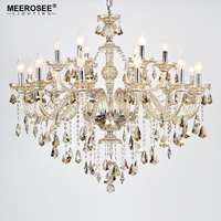 New Arrival Cognac Crystal Chandelier Light Glass Cristal Lusters Candle Featured Pendant Lamp with 6 Arms MD3148