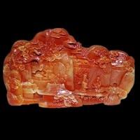 Zeldzame Chinese 100% Natuurlijke ShouShan Steen Hand Gesneden Decoratie Landschap, Mountain goden, Gratis verzending