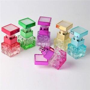 Image 1 - ファッション 10 ミリリットルカラフルポータブルガラス香水瓶アトマイザー空のためのスプレーでパルファムケース旅行