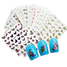 50X DIY Foils Mixed 3d Designs Bow Flower Glitter Bling Nail Art Sticker for Beauty Decor Tools for DIY Tips Random y_NC179