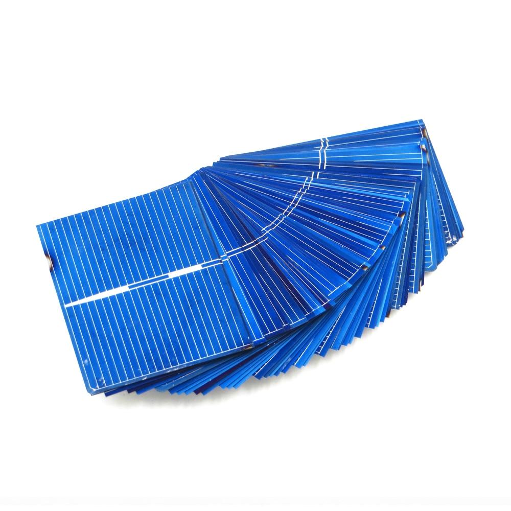 Panel Solar de silicio policristalino, celdas de dolor, bricolaje, cargador Solar de 52x39mm, 0,5 V, 0,33 W, 50 unids/lote