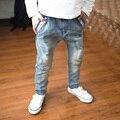 2016 nuevos pantalones vaqueros del niño de La primavera y el otoño Haren pantalones/etapa intermedia de la infancia muchachos pantalones vaqueros de la venta caliente de calidad superior