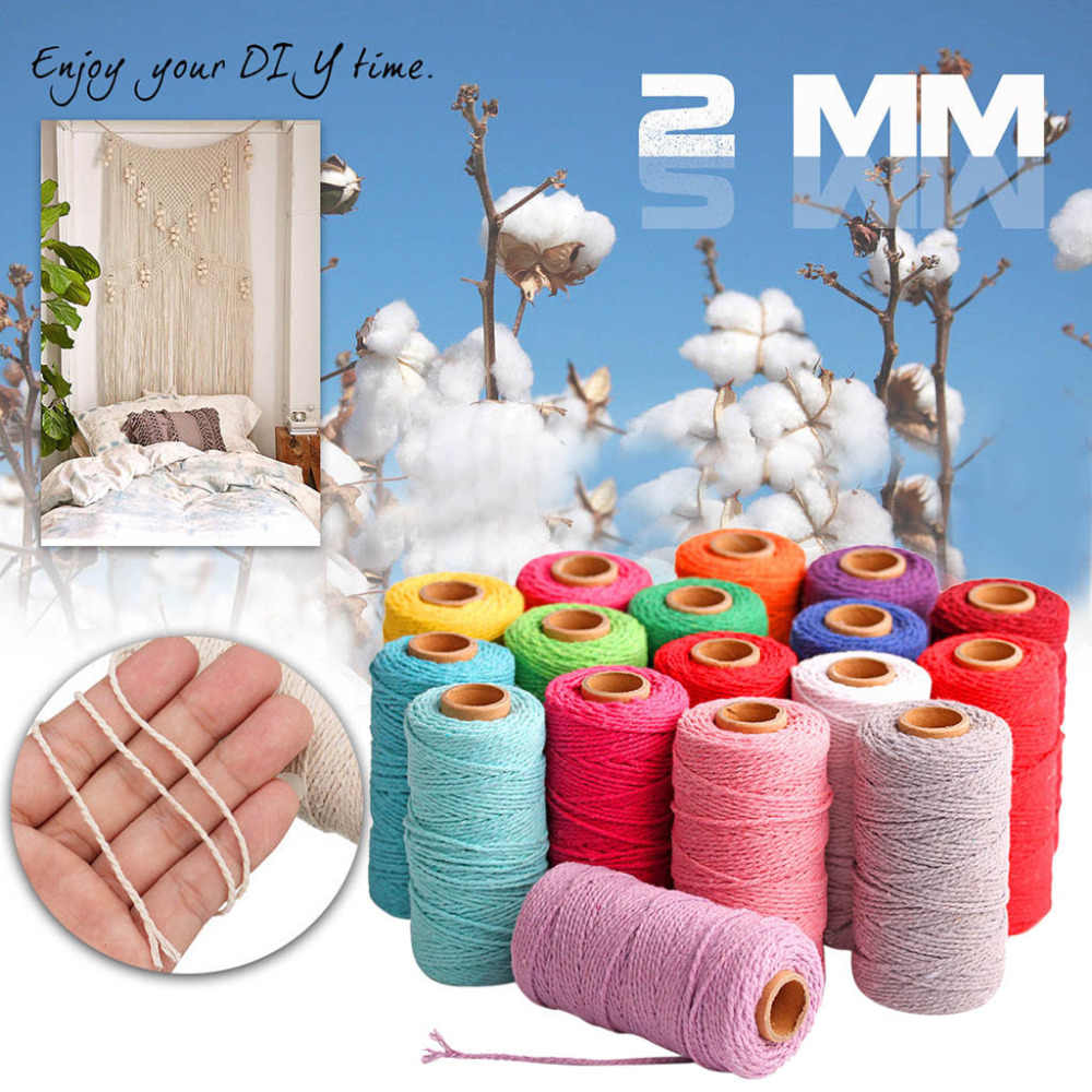 New Hot Selling 100m Long/100Yard Pure Cotton Twisted Cord Rope Crafts Macrame Artisan String &c