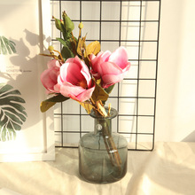 1 bouquet party home wedding decoration silk flowers orchid Magnolia artificial for