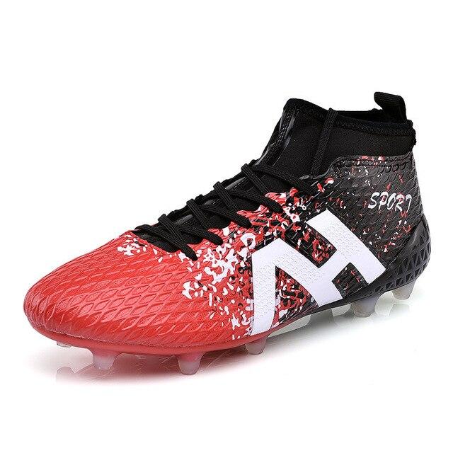 b6b9a4c393589 Zapatos de fútbol para niños al aire libre entrenamiento de alta botas de  fútbol AG gimnasio