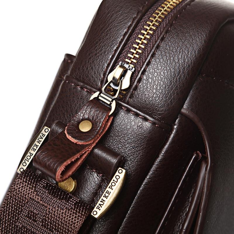 e8684eb74eca - Badenroo Genuine Leather Polo Men Shoulder bags Classical Messenger Bag  Cross Body Bag Fashion Casual Business Handbags for Men