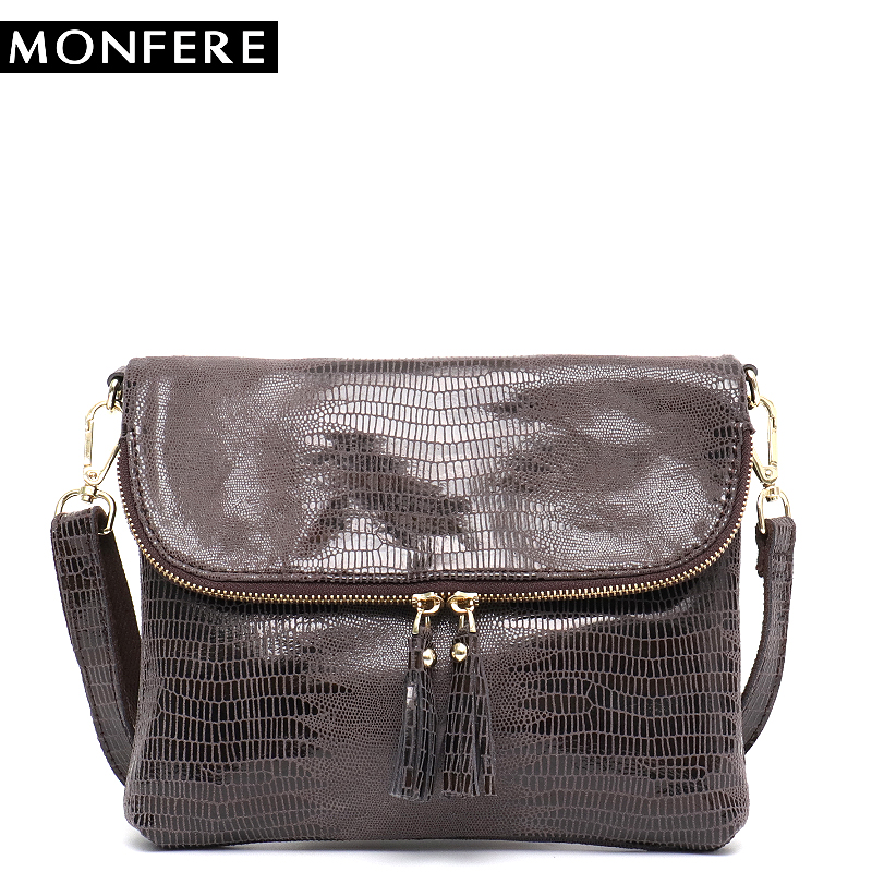MONFERE Small Fashion Leather Flap Bag Snake Pattern Women Shoulder&Messenger Bags Female Animal Print Leather Zip Round Purses