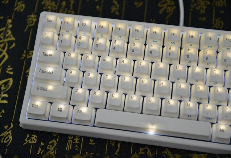 White LED backlighting keycool 84 PBT compact mini mechanical keyboard kailh mx switches game keyboard keycool84 mini gaming