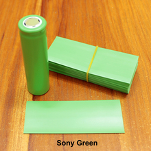 100pcs/lot 18650 heat shrinkable sleeve imported battery skin green Sony flame retardant PET shrink