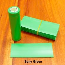 100 шт./лот 18650 термоусадочная втулка импортированная батарея кожа зеленый sony огнестойкая батарея ПЭТ Термоусадочная муфта