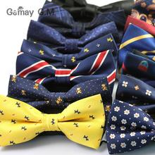 Spring new men's polyester tie Korean leisure floral dog pattern double bow tie factory direct from stock цены