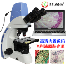 Buy online Digital LED fluorescence biological microscope effect over 2000 times the real picture