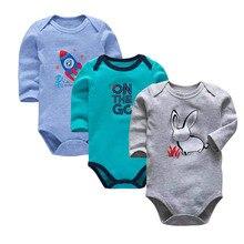 Baby Bodysuit 3pieces/lot Autumn Newborn 100% Cotton Body Baby Long Sleeve Under
