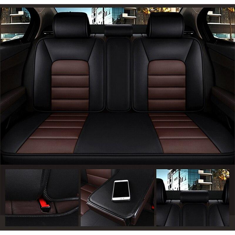 KADULEE housse de siège auto en cuir synthétique polyuréthane pour Skoda Octavia 2 a7 a5 a3 Fabia superbe 2 3 Rapid Yeti super auto accessoires de voiture - 5