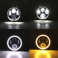 7 Inch LED Headlight Round Shape Refitting Headlight Halo Projectors And Halo Fog Lights For Jeep
